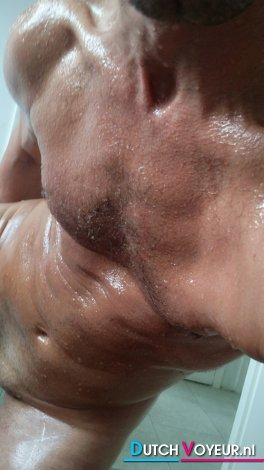 MUSCULAR NAKED and soaked
