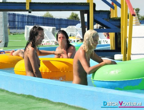 Topless water park