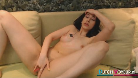 Flawless Lovely Hot Teen Babe Fucks her Tight Pussy