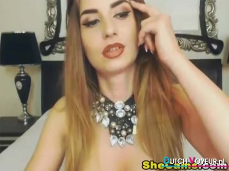 Shemale gorgeous and sexy hot masturbating while o