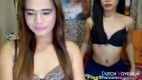 Naughty Couple Shemale Strip Show